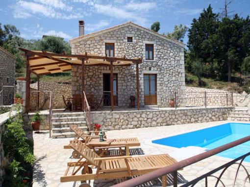 Lefkada villa in collina u due livelli due camere con - Ville con giardino foto ...